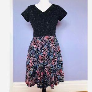 MAISON Jules short sleeve flare dress